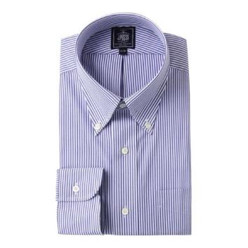<Jプレス>PLEMIUMPLEATS ロンドンストライプドレスシャツ