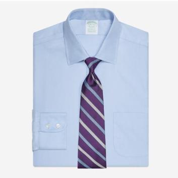<ブルックス ブラザーズ>ノンアイロン ストレッチコットン ロイヤルオックスフォード ドレスシャツ New Milano Fit