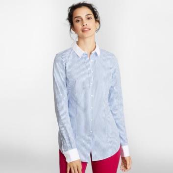 <ブルックス ブラザーズ>ノンアイロン コットントリプルストライプ クレリックドレスシャツ Tailored Fit