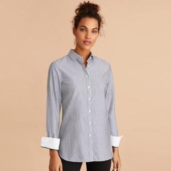 <ブルックス ブラザーズ>Red Fleece ノンアイロン コットンポプリン ストライプ チュニックシャツ