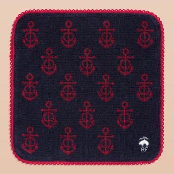 <ブルックス ブラザーズ>Red Fleece GF スーピマコットン アンカーモチーフ ミニタオル