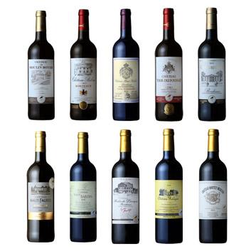 【送料無料】自宅でワイン三昧!ボルドー金賞ワイン10本セット!