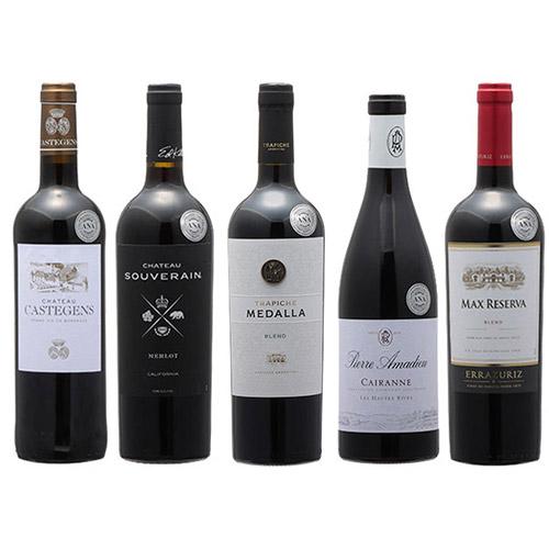 【送料無料】2019年度機内ワイン ビジネスクラス赤ワイン5本セット
