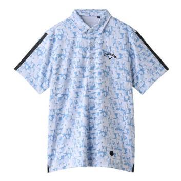 <キャロウェイアパレル>【吸汗速乾】デジカモジャカード半袖シャツ