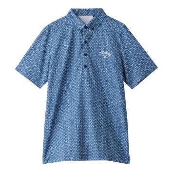<キャロウェイアパレル>【吸汗速乾】【UVカット】切り子プリントポロシャツ
