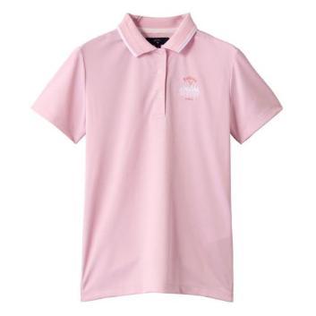 <キャロウェイアパレル>【吸汗速乾】ロゴ入りポロシャツ