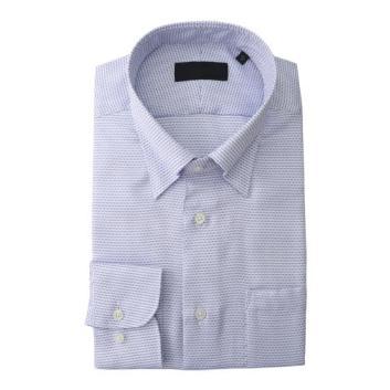 <ダーバン>【イージーケア】変形ドット柄 ドレスシャツ