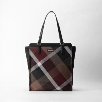 <ブラックレーベル・クレストブリッジ>ナイロンツイル クレストブリッジチェック トートバッグ
