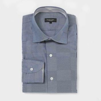 <ブラックレーベル・クレストブリッジ>シャドークレストブリッジチェックセミワイドカラーシャツ