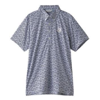<アンパスィ>【吸水速乾】モロッコプリント ポロシャツ