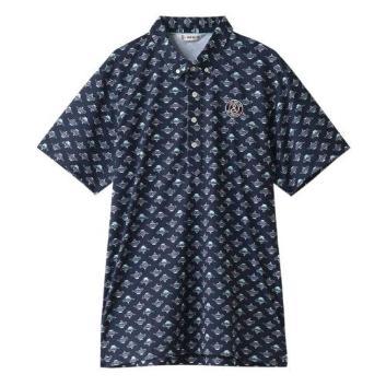 <アンパスィ>【吸汗速乾】モロッコプリント 半袖シャツ