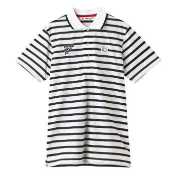 <アンパスィ>【吸水速乾】ドライミックス ボーダーポロシャツ