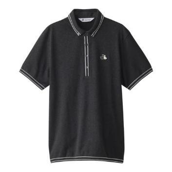 <ブラックアンドホワイト>セーターポロシャツ