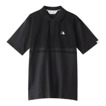 <ブラックアンドホワイト>切り替え半袖シャツ