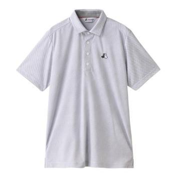 <ブラックアンドホワイト>【吸汗速乾・UV機能】ロゴ入り半袖シャツ