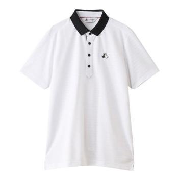 <ブラックアンドホワイト>【吸汗速乾・UV機能】半袖ポロシャツ