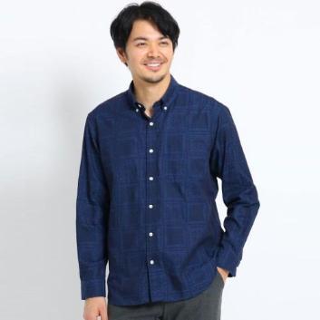 <タケオキクチ>反応染めデニムシャツ