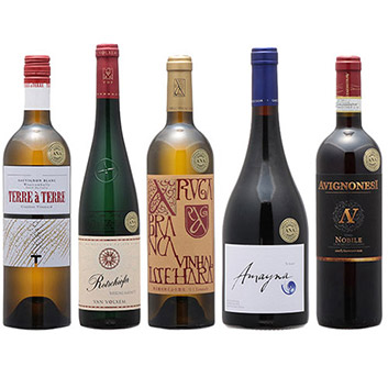 2019年度機内ワイン ファーストクラス赤白5本セット