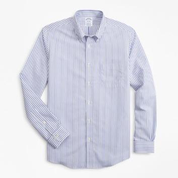 <ブルックス ブラザーズ>ノンアイロン ストレッチコットン ベンガルストライプ スポーツシャツ Regent Fit