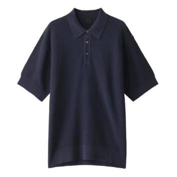 <ダーバン>和紙×コットン素材 ニットポロシャツ