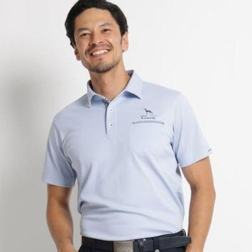 <アダバット>【吸水速乾/UVカット】襟裏・前立てデザイン半袖ポロシャツ