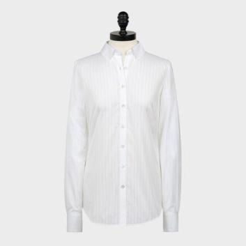 <ブルックス ブラザーズ>スーピマコットン ポインテールドビーストライプ ドレスシャツ Fitted Fit