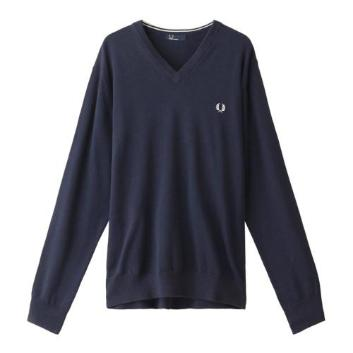 <フレッドペリー>CLASSIC COTTON V NECK JUMPER