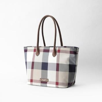 <ブルーレーベル・クレストブリッジ>クレストブリッジチェックトートバッグ