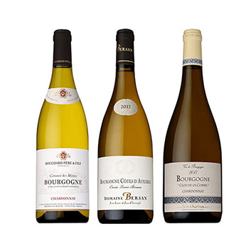 【送料無料】ブルゴーニュ白ワイン飲み比べ3本セット