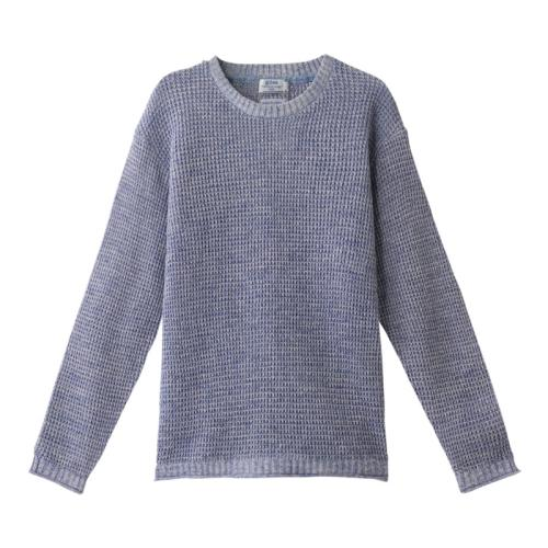 <ジム>7G擬麻スペック染めワッフルセーター