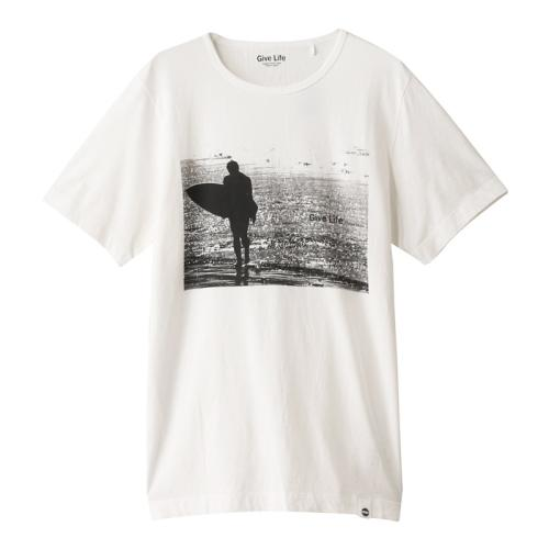 <ジム>オーガニックコットンSURFプリントTシャツ