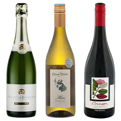 【送料無料】A-styleソムリエが選んだ、機内ワインが1本入った中華料理と合わせたい赤白泡3本セット