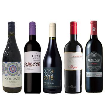 【送料無料】A-styleソムリエが選んだ、夏に飲みたい!冷やして美味しい赤ワイン5本セット