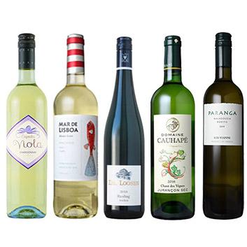 【送料無料】A-styleソムリエが選んだ、夏に飲みたい!冷やして美味しい白ワイン5本セット