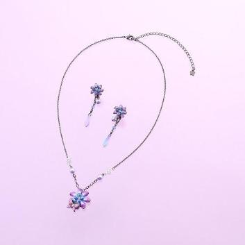 <ANNA SUI>花&蝶モチーフネックレス&イヤリングセット