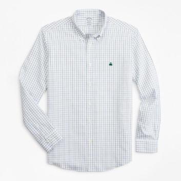 <ブルックス ブラザーズ>ノンアイロン ストレッチコットン タッターソール スポーツシャツ Regent Fit