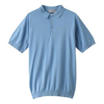 <ジョンスメドレー>ニットポロシャツ