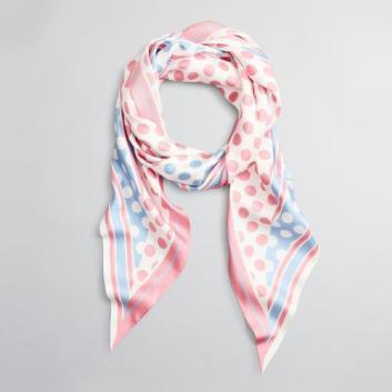 <ブルックス ブラザーズ>シルクツイル ジオメトリックドットプリント ダイヤモンドスカーフ