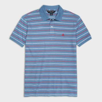 <ブルックス ブラザーズ>GF コットン テキスチャードストライプ ポロシャツ Slim Fit