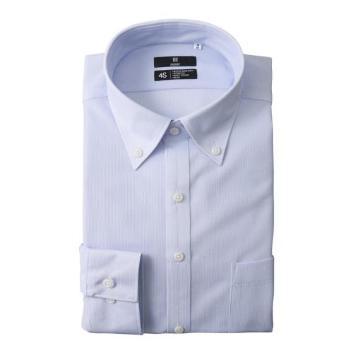 <スーツセレクト>【形態安定】スキニーボタンダウンワイシャツ(ストレッチ・ノーアイロン)
