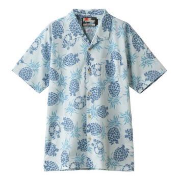 <ジム>パイナップルプリントオープンカノコシャツ
