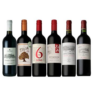 【ソムリエセレクション】家飲みにおススメ!デイリー赤ワイン6本セット