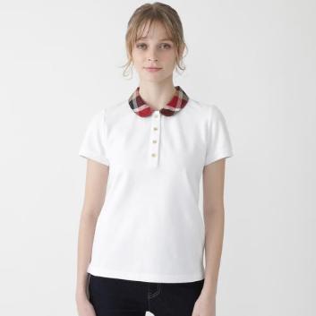 <ブルーレーベル・クレストブリッジ>ストレッチカノコポロシャツ