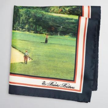 <ブルックス ブラザーズ>シルク Summer 1985 カタログ ゴルフプリント ポケットスクエア
