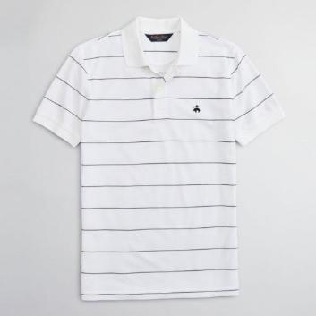 <ブルックス ブラザーズ>GF スーピマコットンピケ シンストライプ パフォーマンス ポロシャツ Slim Fit