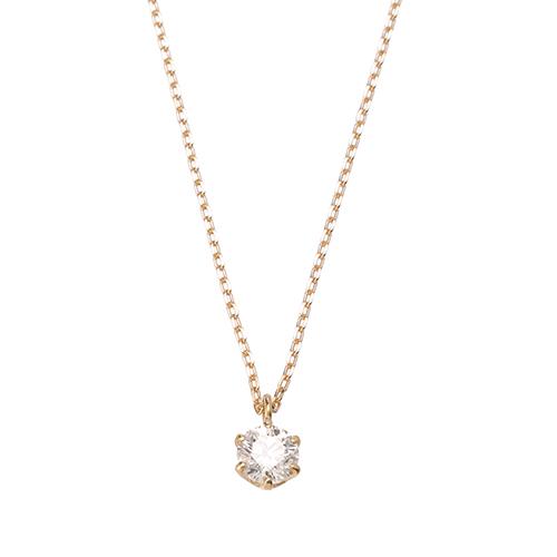 <ミワ>K18イエローゴールドダイヤモンドネックレス