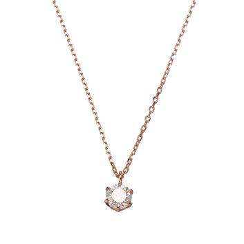 <ミワ>K18ピンクゴールドダイヤモンドネックレス