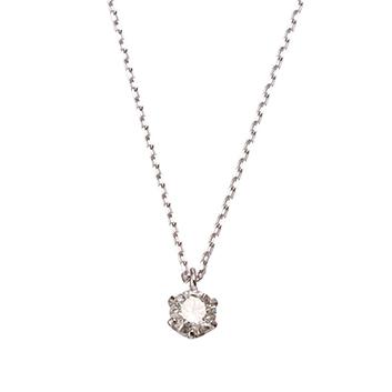 <ミワ>Pt900/Pt850ダイヤモンドネックレス