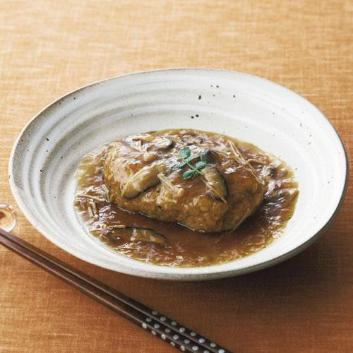 神戸元町「和(なごみ)料理みのり」和風きのこ餡の煮込みハンバーグ9個