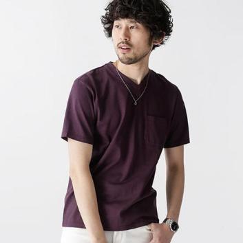 <ナノ・ユニバース>Anti Soaked ヘビーVネックTシャツ
